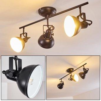 Plafonnier Tina Noir, 3 lumières
