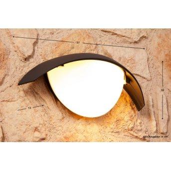 Applique extérieure LUTEC CLIP Noir, Anthracite, 1 lumière
