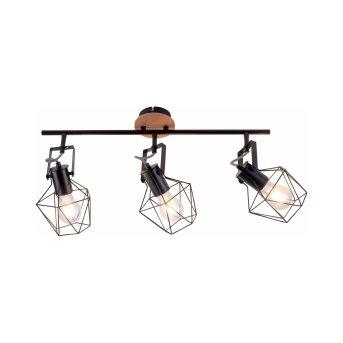 Plafonnier Leuchten-Direkt JARO Bois clair, 3 lumières