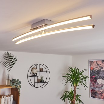 Plafonnier Georgina LED Chrome, 2 lumières