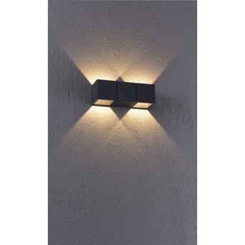Applique murale Paul Neuhaus MARCEL LED Anthracite, 2 lumières