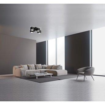 Plafonnier Grossmann ROCKS LED Noir, 6 lumières