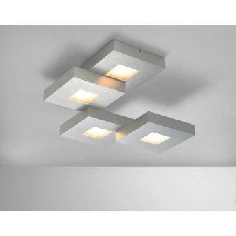 Plafonnier Bopp CUBUS LED Aluminium, 4 lumières