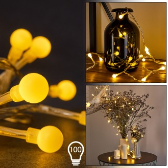 Guirlande Sondrio LED, 100 lumières