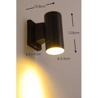 Applique extérieure LED Globo Noir, 1 lumière