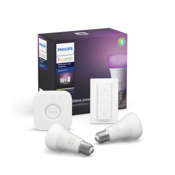 LED Ambiance White & Color E27 Starter-Set de 2 Philips Hue