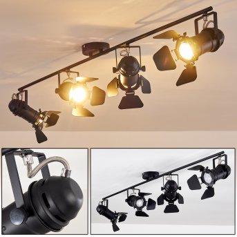 Spot de plafond Lichinga Noir, 4 lumières