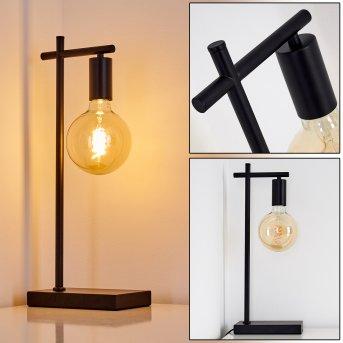 Lampe à poser Pamunkey Noir, 1 lumière