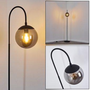 Lampadaire Agropoli Noir, 1 lumière