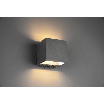 Applique murale Trio Figo LED Noir, 1 lumière, Télécommandes, Changeur de couleurs