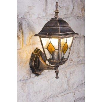 Applique murale d'extérieur Antibes Brun doré, 1 lumière
