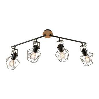 Plafonnier Leuchten-Direkt JARO Bois clair, 4 lumières