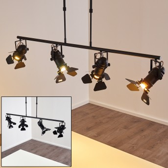 Suspension Lichinga Noir, 4 lumières