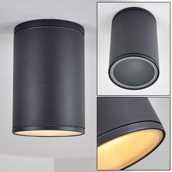Plafonnier Agua Noir, 1 lumière