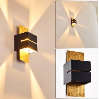 Applique murale Tora Noir doré, 1 lumière