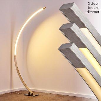 Lampadaire Ruswil LED Nickel mat, 1 lumière