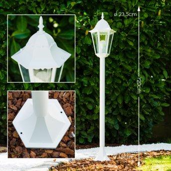 Lampadaire extérieur Bristol Blanc, 1 lumière