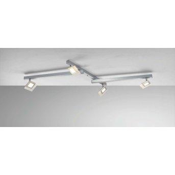 Plafonnier Bopp LINE LED Aluminium, 4 lumières