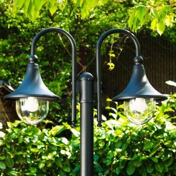 Réverbère Elgin Noir, 2 lumières