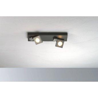 Plafonnier Bopp Flash LED Noir, Anthracite, 2 lumières
