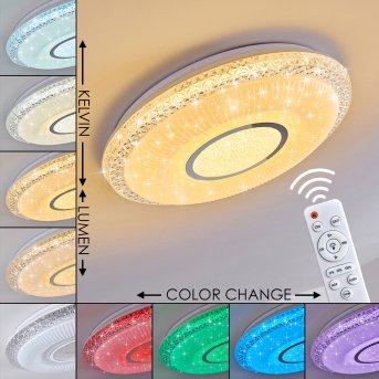 Plafonnier Avoriaz LED Blanc, 2 lumières, Télécommandes, Changeur de couleurs