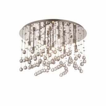 Plafonnier Ideal Lux MOONLIGHT Chrome, Aspect cristal, 12 lumières