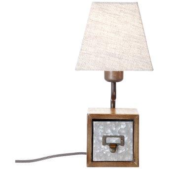 Lampe à poser Brilliant Casket Brun foncé, Zingué, Beige, 1 lumière