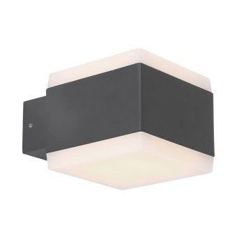Lampe d'extérieur Globo SLICE LED Anthracite, 1 lumière, Changeur de couleurs