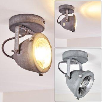 Plafonnier Glostrup LED Gris, 1 lumière