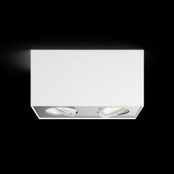 Plafonnier Philips Box LED Blanc, 2 lumières