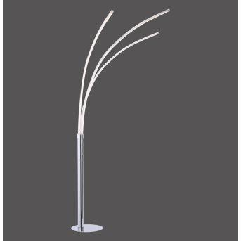 Lampadaire Leuchten-Direkt MAJA LED Chrome, 3 lumières