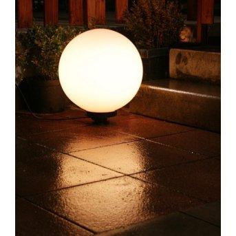 Boule lumineuse de jardin 40 cm Blanc, 1 lumière
