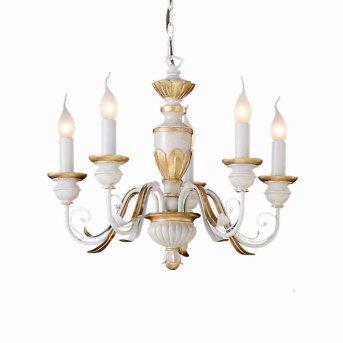 Lustre Ideal Lux FIRENZE Blanc, 5 lumières