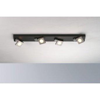 Plafonnier Bopp Flash LED Noir, Anthracite, 4 lumières