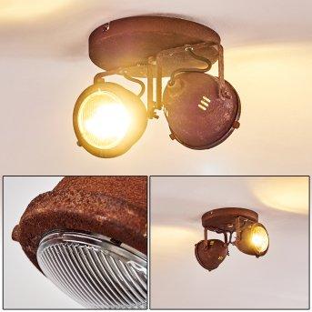 Plafonnier Glostrup LED Rouille, 2 lumières