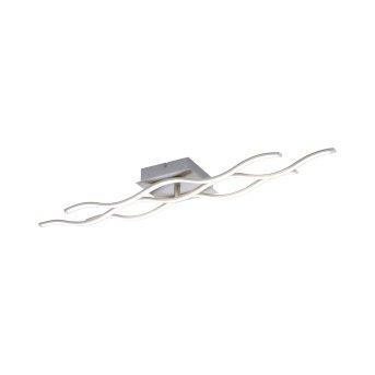 Plafonnier Leuchten Direkt Ls-WAVE LED Acier inoxydable, 2 lumières, Télécommandes, Changeur de couleurs