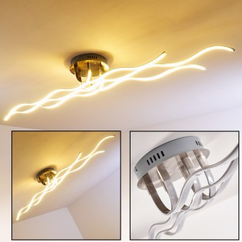 Plafonnier Bovino LED Nickel mat, 1 lumière