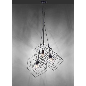 Suspension Leuchten-Direkt SKELETTON Noir, 3 lumières