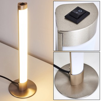 Lampe à poser Wila LED Nickel mat, 1 lumière