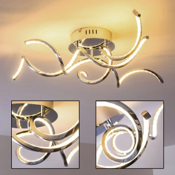 Plafonnier Moskau LED Chrome, 3 lumières