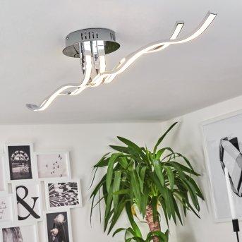 Plafonnier Corato LED Chrome, 1 lumière