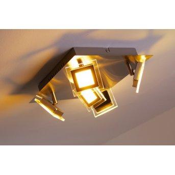 Plafonnier Wofi Cholet LED Nickel mat, 5 lumières