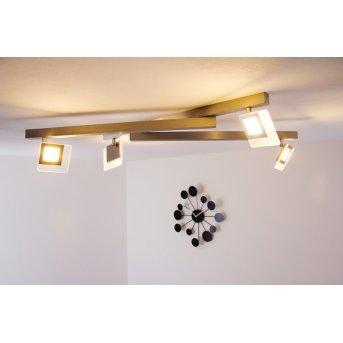 Plafonnier LED Bopp LINE Aluminium, 4 lumières