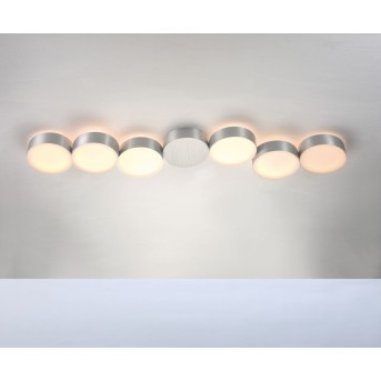 Plafonnier Bopp TOUCH LED Aluminium, 6 lumières