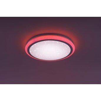 Plafonnier Leuchten Direkt Luisa LED Blanc, 2 lumières, Télécommandes, Changeur de couleurs