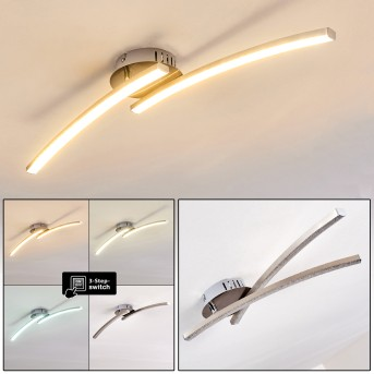 Plafonnier Tusula LED Nickel mat, 2 lumières