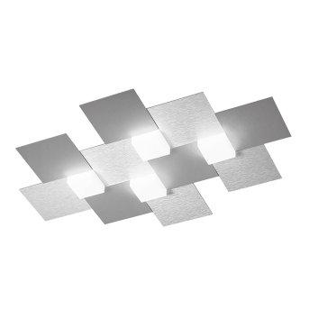 Plafonnier Grossmann CREO LED Aluminium, 4 lumières