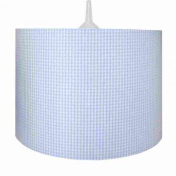 Suspension Waldi Vichy Bleu, 1 lumière