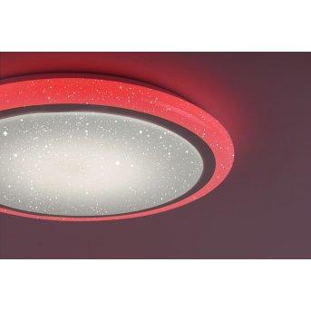 Plafonnier Leuchten Direkt LUISA LED Blanc, 1 lumière, Télécommandes, Changeur de couleurs