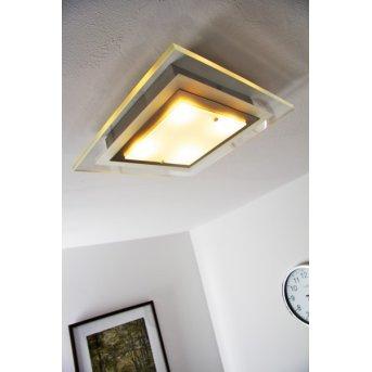 Plafonnier Masterlight LED Nickel mat, 4 lumières